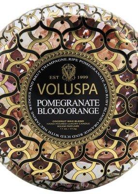 Voluspa Pomegranate blood orange 2 wick maison metallo candle