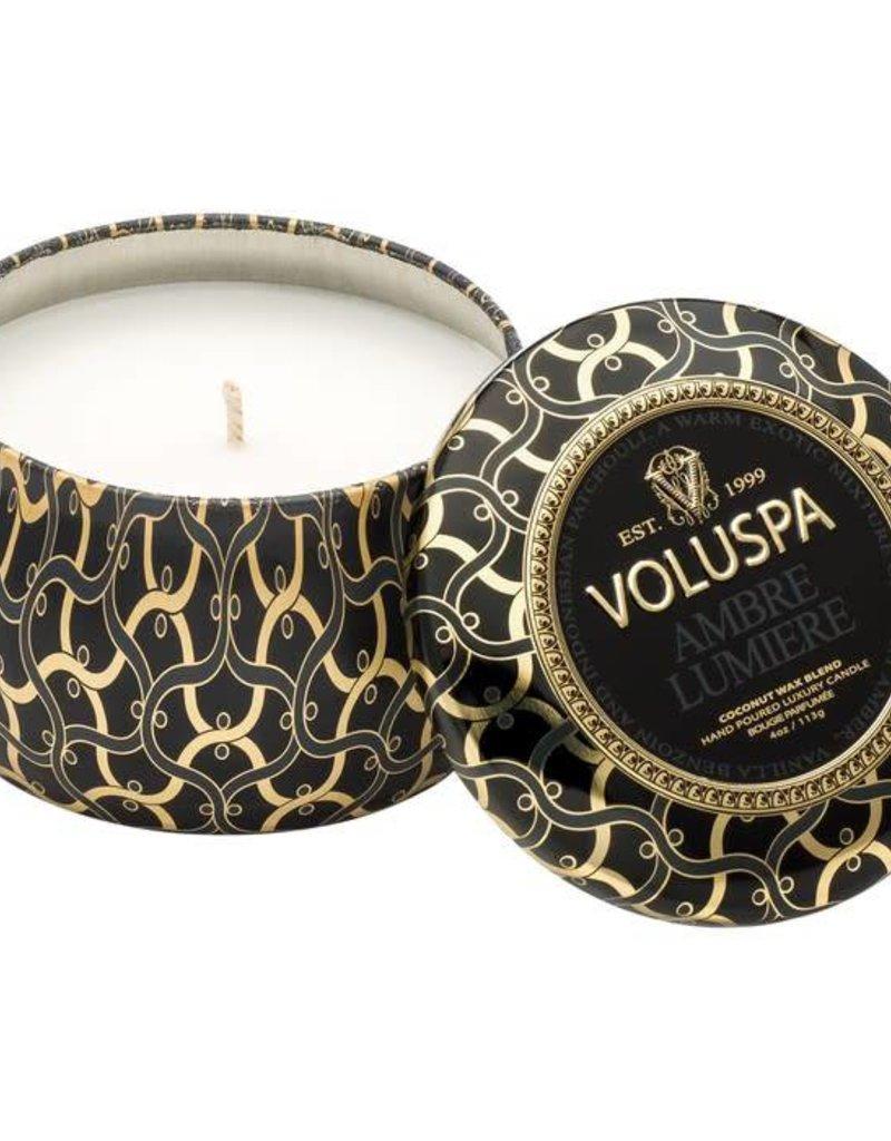 Voluspa Ambre Lumiere petite decorative candle