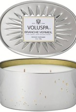 Voluspa Branche Vermeil Oval Tin Candle