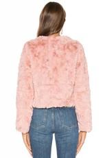 Line&Dot Conrad Mauve Fur Jacket