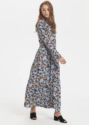 ichi BLUE SHADOW MAXI DRESS