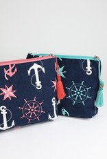 Kenzington Alley Anchors away cosmetic bag