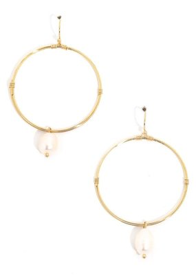 Kenzington Alley Pearl hoop earrings