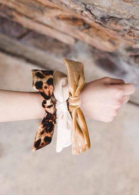 Kenzington Alley Ivory velvet scrunchie