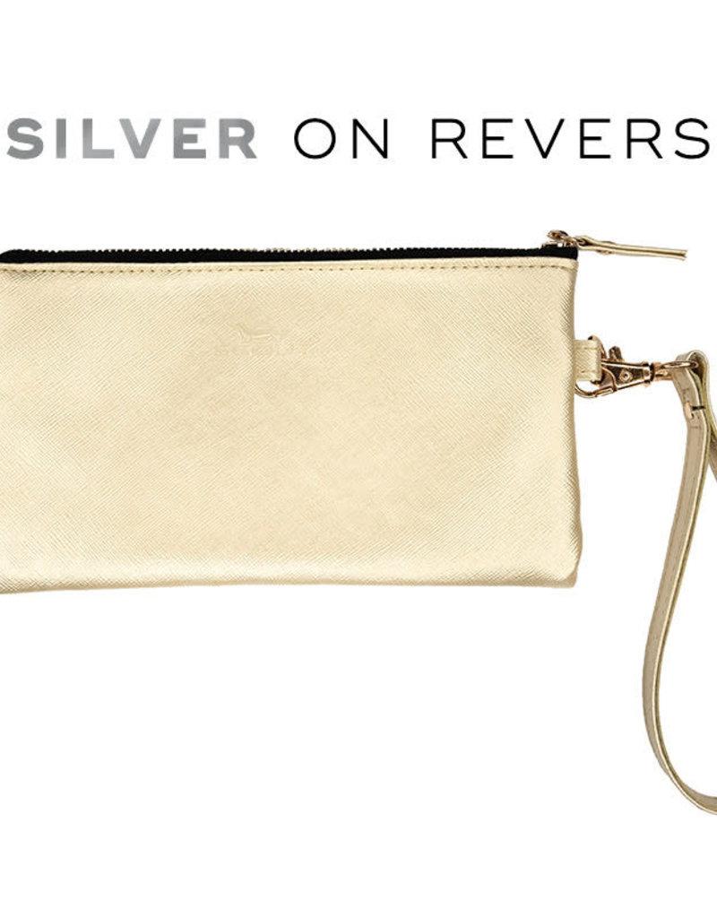 Scout Bags kate wristlet- gold/silver