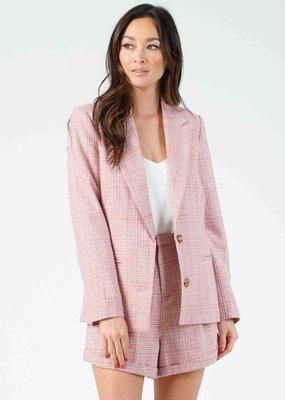 Lucca Pink Plaid Blazer