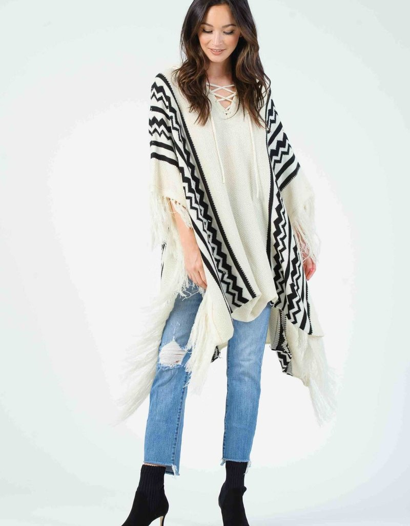 Lucca Fred Hooded Poncho