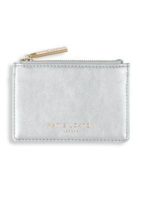 Katie Loxton Alexa Metallic Card Holder Metallic Silver