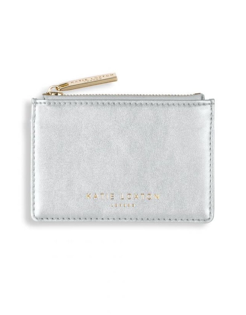 Katie Loxton Alexa Metallic Card Holder Metallic Silver