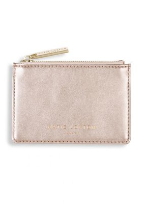 Katie Loxton Alexa Metallic Card Holder Metallic Rose Gold