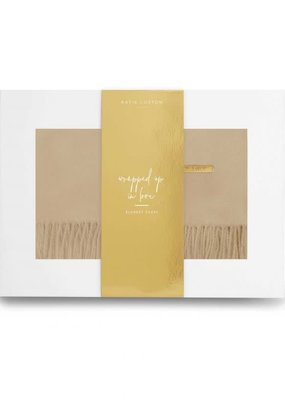 Katie Loxton Wrapped Up in Love Blanket Scarf Camel