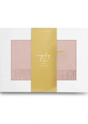 Katie Loxton Wrapped Up in Love Blanket Scarf Deep Blush
