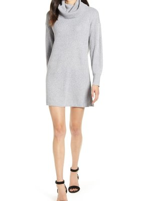 Cupcakes and Cashmere Kiara Heather Grey Sweater Dress