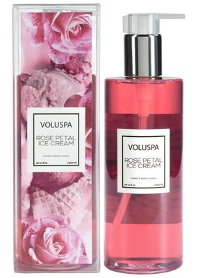 Voluspa Rose Petal Ice Cream Hand & Body Wash