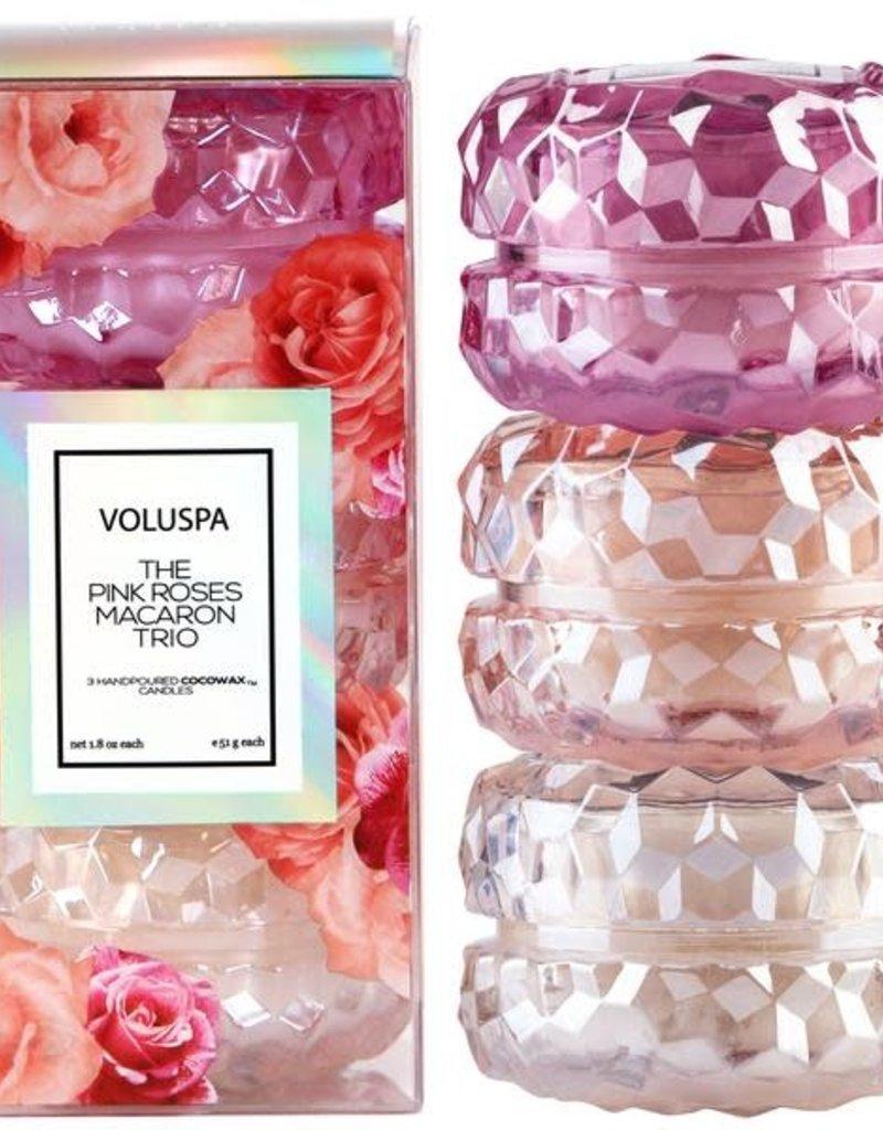 Voluspa 3 Roses Macaron Giftset