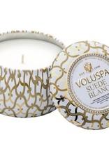 Voluspa Suede Blanc Petite Decorative Candle