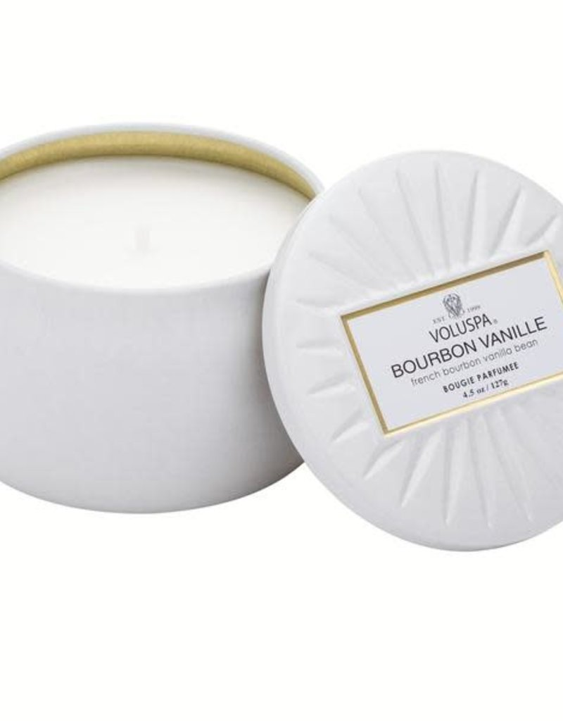 Voluspa Bourbon Vanille Mini Decorative Tin