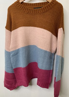 Mink Pink Cozy Up With Me Sweater Multi