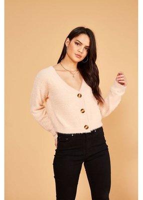 Mink Pink Aurella Knit Cardigan Peach