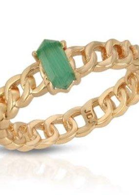 Joy Dravecky Chainlink Stone Ring