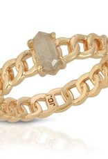 Joy Dravecky Chainlink Stone Ring
