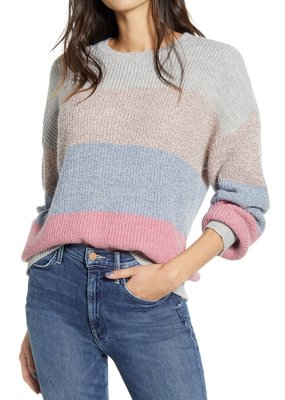Cupcakes and Cashmere Elaine Multi Stripe Sweater