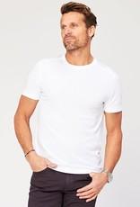 Agave Denim Men's white Crew Neck Tee Shirt