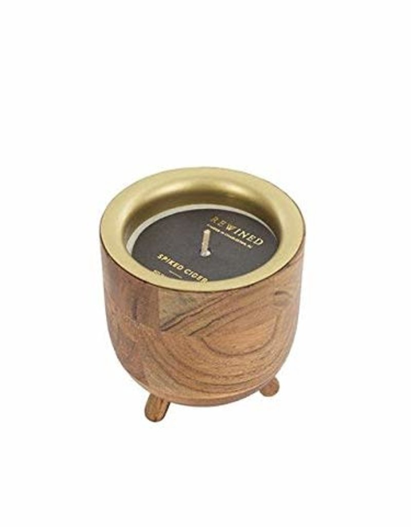 Rewined Wood Base Candles