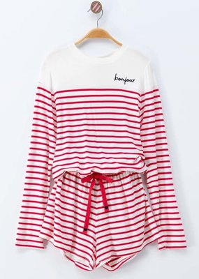 Kenzington Alley stripe Bonjour 2 pc set