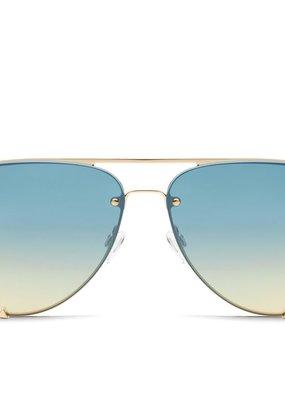 High Key Rimless Sunglasses GLD/BLU
