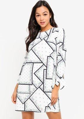 Glamorous Geometric Flower Dress