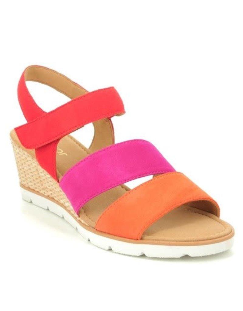 Gabor Tri Colored Wedged Sandal