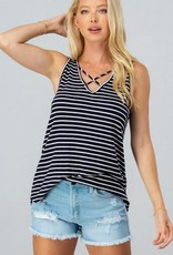 Kenzington Alley Sleeveless CrissCross Tank