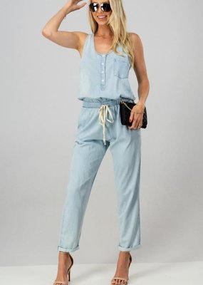Kenzington Alley Chambray Drawstring Jump