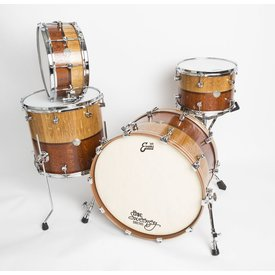 "Doc Sweeney Doc Sweeney ""Leopard"" Dual Species 4-Piece Kit: Quartersawn White Oak and Leopardwood with Walnut inlays"