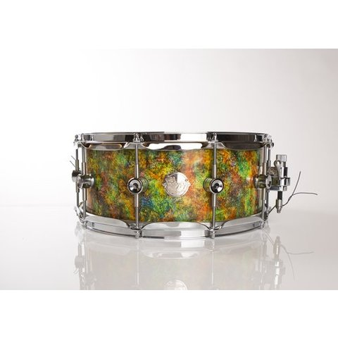 "Doc Sweeney ""Timothy Leary"" Abstract Series Snare<br /> 14x6 Stave using Curly Maple"