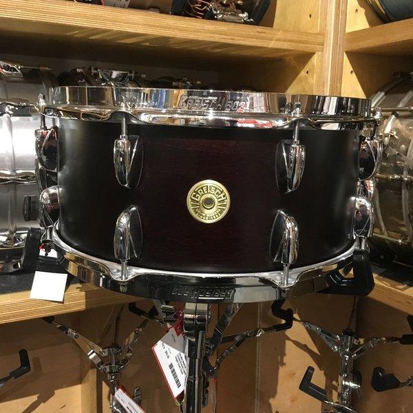 Gretsch Gretsch Broadkaster 6.5x14 16 Lug Snare Drum in Satin Dark Walnut Finish