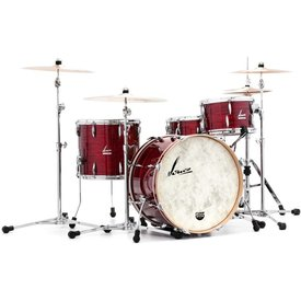 Sonor Sonor Vintage Series 3 Piece Teardrop Shell Pack in Vintage Red Oyster Finishw/Vintage Tom Mount