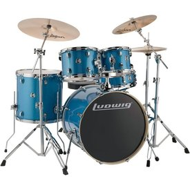 Ludwig Ludwig Element Evolution 5 Piece Complete Drumset in Blue Sparkle