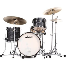 Ludwig Ludwig Classic Maple Downbeat 3 Piece Shell Pack in Vintage Black Oyster Pearl