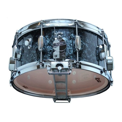 Rogers Dynasonic 6.5x14 Wood Shell Snare Drum in Black Pearl Finish