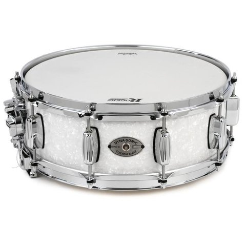 Rogers Dynasonic 6.5x14 Snare Drum, White Marine Pearl Finish