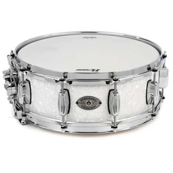 Rogers Rogers Dynasonic 6.5x14 Snare Drum, White Marine Pearl Finish