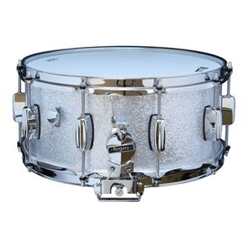 Rogers Rogers Dynasonic 6.5x14 Wood Shell Snare Drum in Silver Sparkle Finish