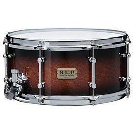 "Tama TAMA S.L.P. Dynamic Kapur 6.5""x14"" snare drum Black Kapur Burst"