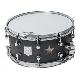 Trick Drums Custom AL13 6.5x14 Star Vent Snare Drum in Cast Black