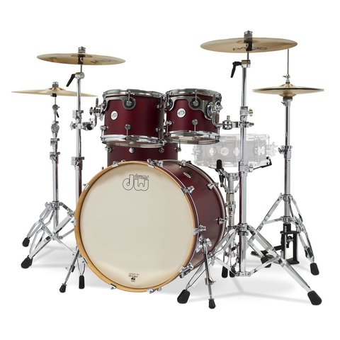 DW Design Series Limited Edition Deep Cherry Satin Shell Pack