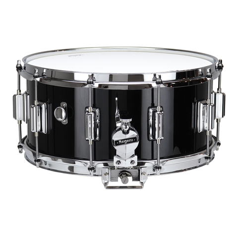 "ROGERS Dyna-Sonic 6.5"" x 14"" Classic Snare Drum Black Gloss Lacquer w/BT Lug"