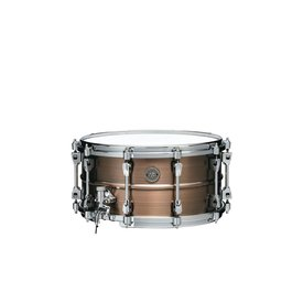 "Tama TAMA Starphonic snare drum 7""x14"" 1.2mm Copper shell Satin Hairline Finish"