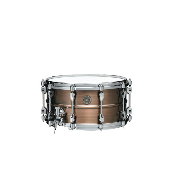 "Tama TAMA Starphonic snare drum 7""x14"" 1.2mm Copper shell Satin Hairline Finish"